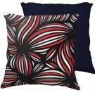 22x22 Leabow Red White Black Blue Back 631 Art