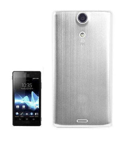 Metal Brushed Style Plastic Replacement Battery Cover for Sony Xperia TX / LT29i(Silver)