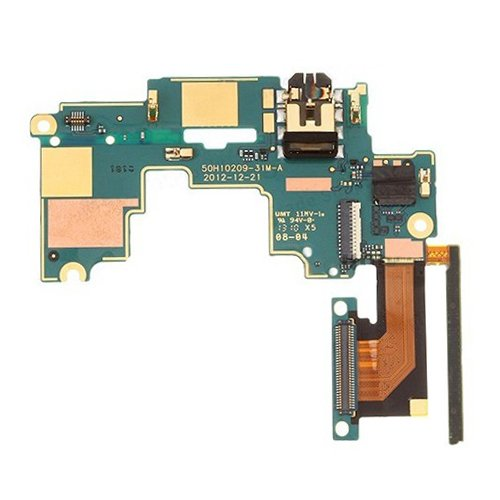 Mainboard & Volume Control Button / Earphone Jack Flex Cable for HTC One M7 / 801e / 801n