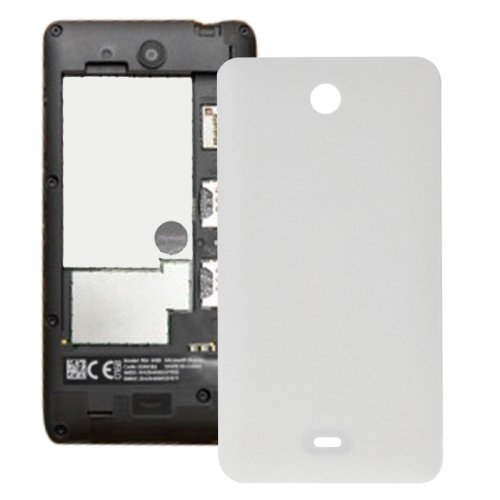 Frosted Surface Plastic Back Housing Cover Replacement for Microsoft Lumia 430(White)