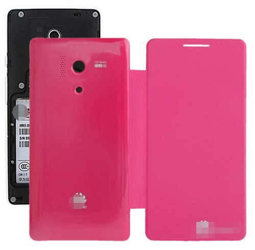 Cloth Texture Horizontal Flip Back Cover / Replacement Leather Case for Huawei Honor 3 (Magenta)