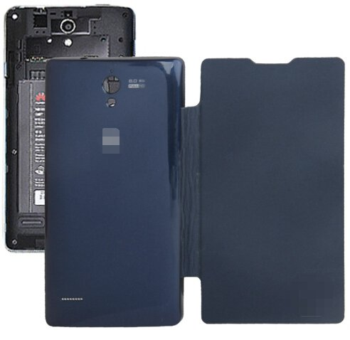 Horizontal Flip Back Cover / Replacement Leather Case for Huawei G700 (Dark Blue)