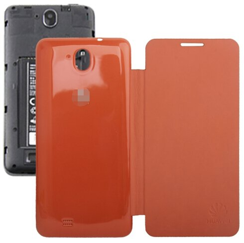 Horizontal Flip Back Cover / Replacement Leather Case for Huawei G606 (Orange)