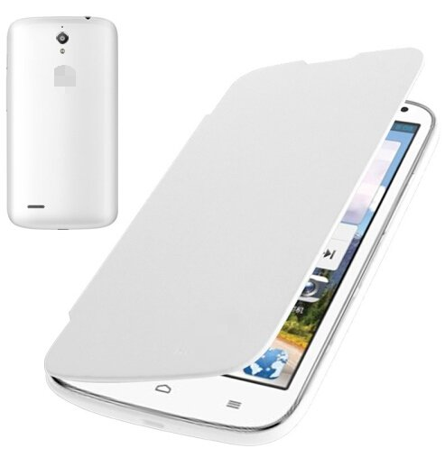 Flip Back Cover / Replacement Leather Case for Huawei Ascend G610 (White)