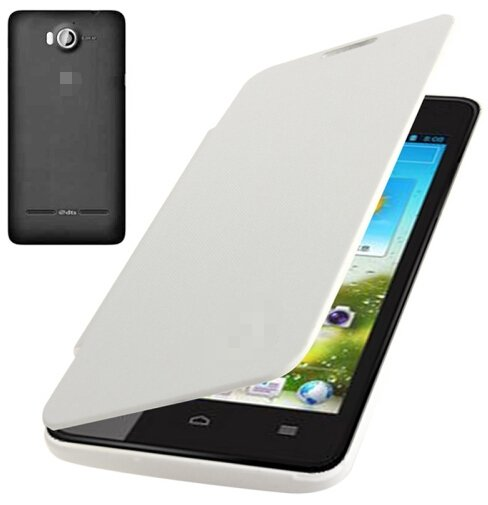 Flip Back Cover / Replacement Leather Case for Huawei Ascend G510 (White)