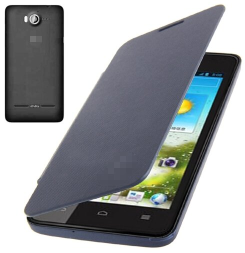 Flip Back Cover / Replacement Leather Case for Huawei Ascend G510 (Navy Blue)
