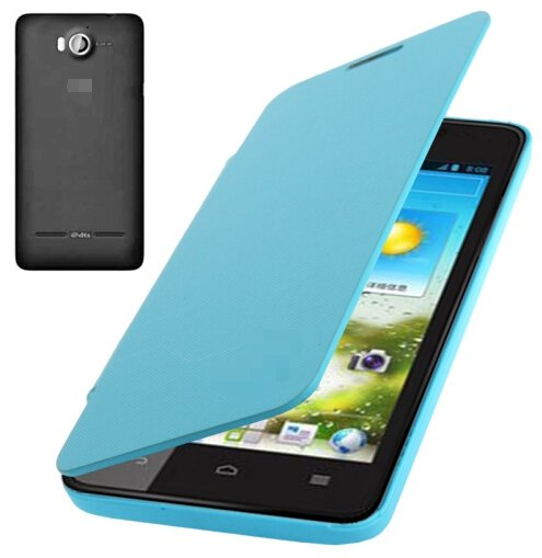 Flip Back Cover / Replacement Leather Case for Huawei Ascend G510 (Blue)