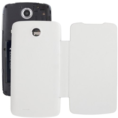 Brushed Texture Horizontal Flip Back Cover / Replacement Leather Case for Lenovo A630T (White)