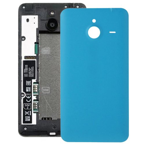 Frosted Surface Plastic Back Housing Cover Replacement for Microsoft Lumia 640XL(Blue)