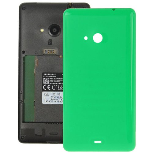 Smooth Surface Plastic Back Housing Cover Replacement for Microsoft Lumia 535(Green)
