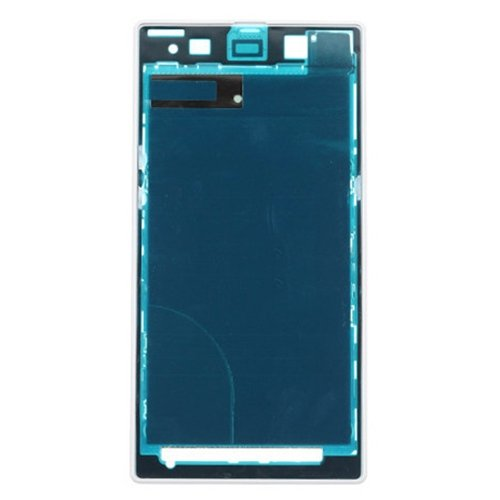 Front Housing LCD Frame Bezel Plate Replacement for Sony Xperia Z1 / C6902(White)