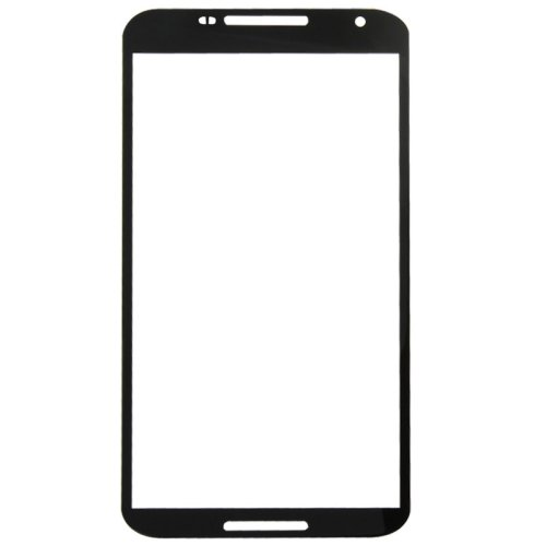 Front Screen Outer Glass Lens Replacement for Google Nexus 6 / XT1103(Black)