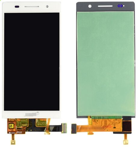 LCD Screen + Touch Screen Digitizer Assembly for Huawei Ascend P6(White)