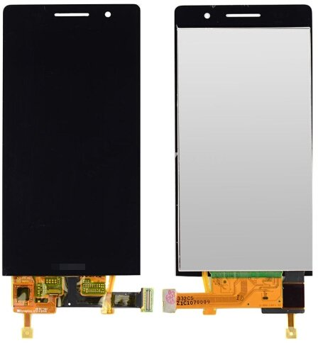 LCD Screen + Touch Screen Digitizer Assembly for Huawei Ascend P6(Black)