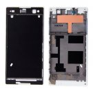 Front Housing Replacement with Adhesive Sticker for Sony Xperia C3(White)