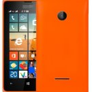 Solid Color Battery Back Cover for Microsoft Lumia 532(Orange)
