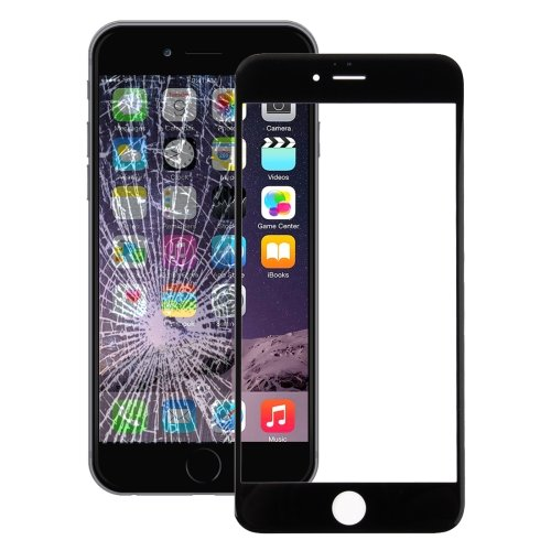 iPhone 7 Front Screen Outer Glass Lens(Black)