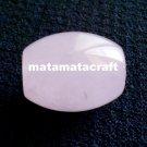 1 piece light pink barrel shaped natural rose quartz crystal, love stone, bohemian ruby, focal bead