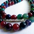 "1 strand 14.5"" 380mm, natural agate beads, multi tourmaline colored , 12mm 1/2"", for jewelry making"