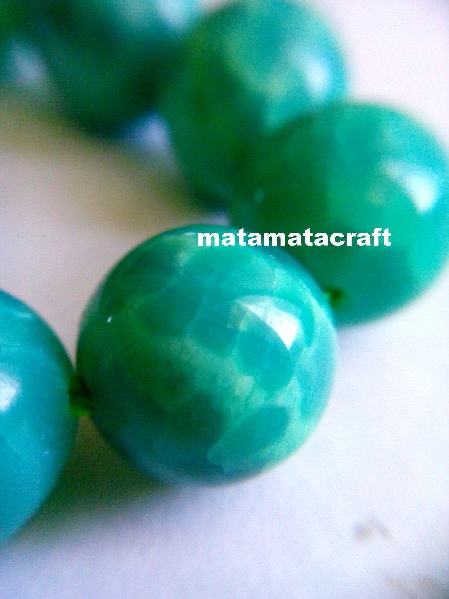 """2 strands natural agate beads, crackle peacock green beads, 6mm 1/5"""" for jewelry making"""