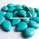 teardrop shaped howlite turquoise beads, sky blue, 13 mm x 18 mm for jewellery making