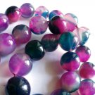 """natural agate beads watermelon green and red colored 8 mm 3/10"""" for jewelry making"""