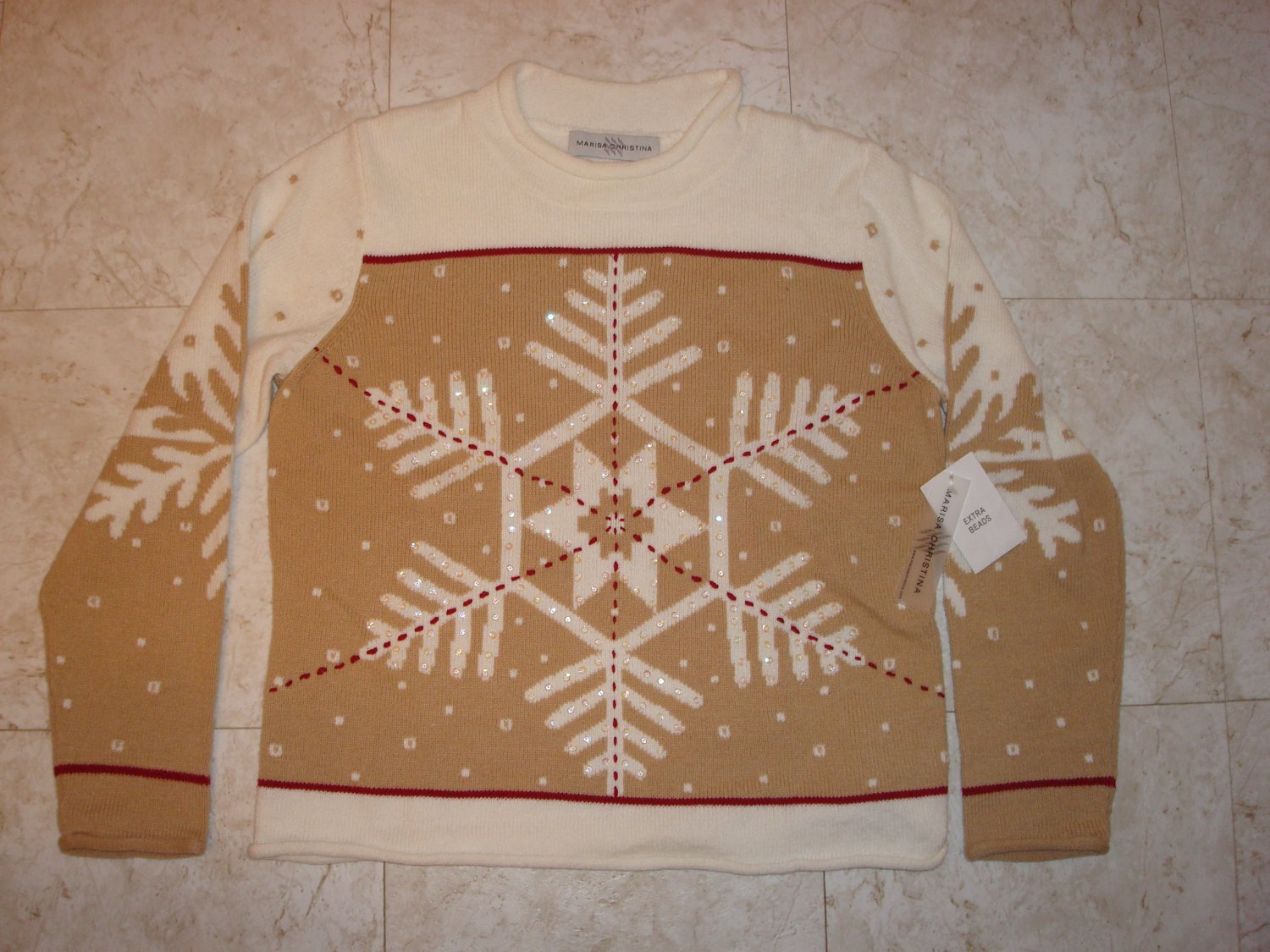Marisa Christina Sweater Small Snowflake