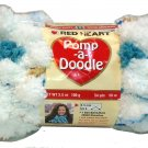 Pomp A Doodle Yarn Red Heart 3.5 ounces 54 yards Avalanche 9010 Super Bulky 6 Discontinued Pom Pom