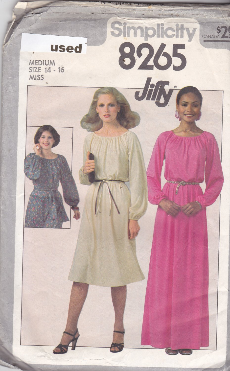 simplicity 8265 size medium 14 16, may be missing pieces