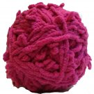 Lolli Loopy Chenille Yarn Watermelon 9764 Red Heart 3.5 ounces 80 yards Super Bulky 6 Fuchsia