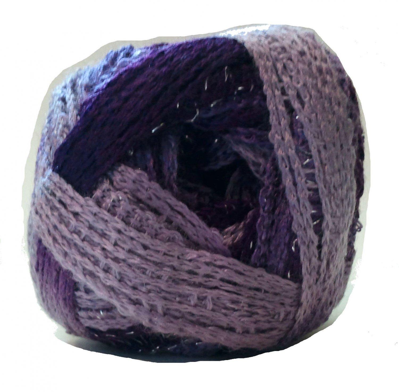 Sashay Yarn 3.5 oz Boogie 1960 Super Bulky 6 Ruffle Scarf Yarn Purple Lavender Violet Sparkly