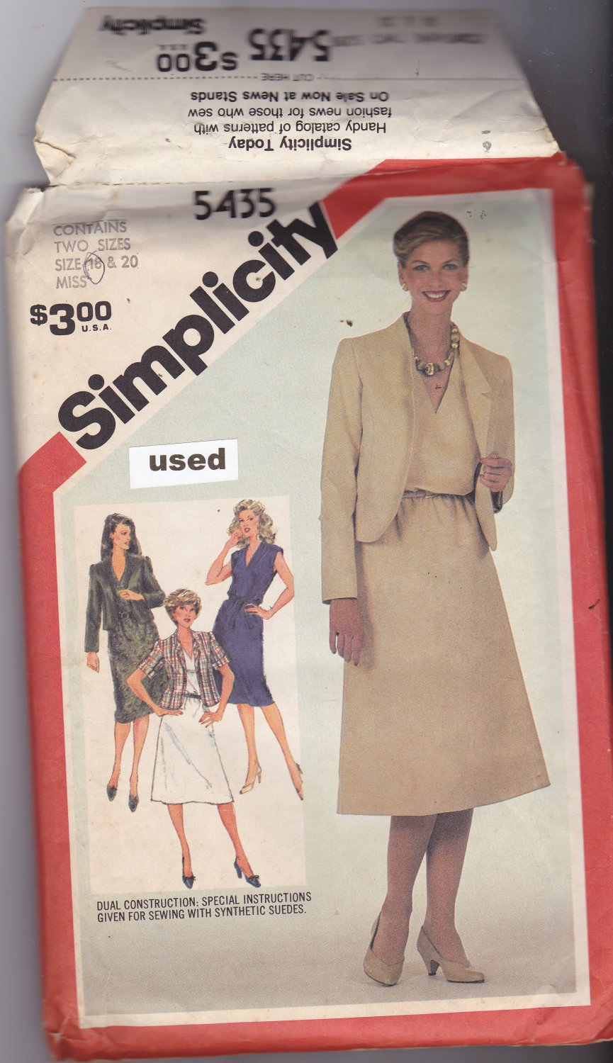 Simplicity 5435 pattern size 18, may be missing pieces