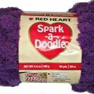 Spark A Doodle Yarn Red Heart 3.5 ounces 54 yards Purple Iced Grape 9540 Super Bulky 6 Pom Pom