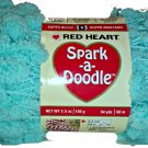 Spark A Doodle Yarn Red Heart 3.5 ounces 54 yards Capri Aqua Blue 9806 Super Bulky 6 Pom Pom