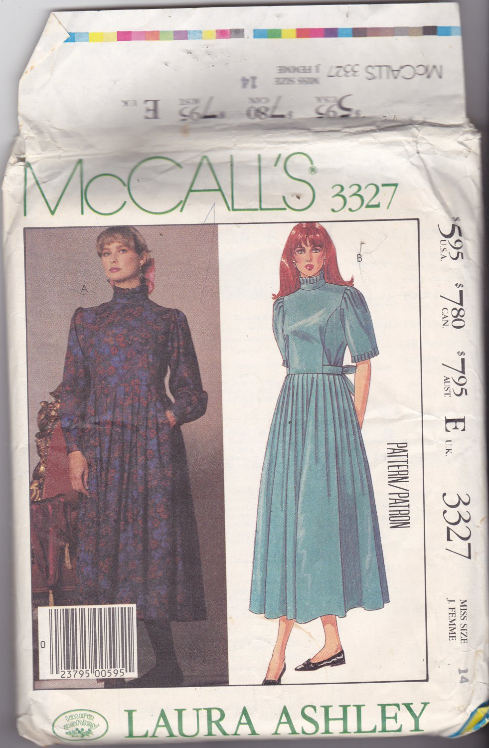 McCall's 3327 size 14 Laura Ashley, may be missing pieces