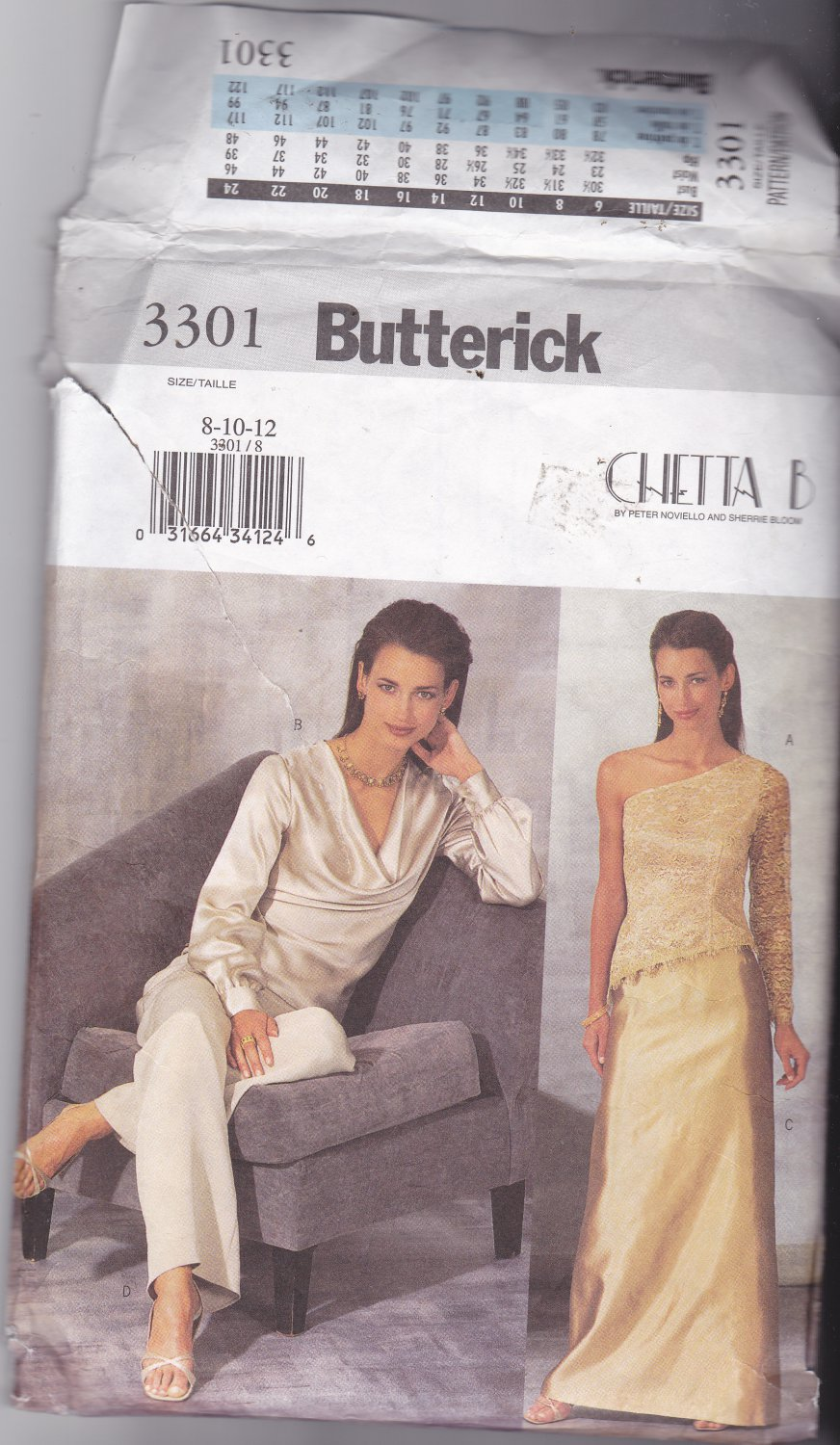 Butterick 3301 size 8 10 12 Chetta B, may be missing pieces