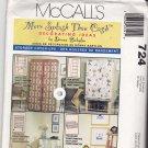 McCall's 724 pattern Home Decor Storage Cover-Ups Donna Babylon Uncut FF