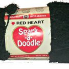 Spark A Doodle Yarn Red Heart 3.5 ounces 54 yards Black Night Light 9012 Super Bulky 6 Pom Pom