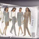 Vogue 1044 Pattern Uncut FF 14 16 18 Lined Asymmetrical Jacket Dress Skirt Tapered Pants