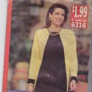 See & Sew 6316 Pattern Uncut 6 8 10 Loose Fitting Straight Diagonal Color Block Dress Very Easy