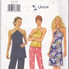 Butterick 3156 Pattern Uncut FF 14 16 18 Evening Halter Top Dress Straight Leg Pants