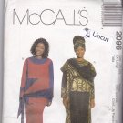 McCall 2096 Pattern Uncut FF Extra Large 20 22 Plus African Influenced Dress Top Pull On Skirt Hat