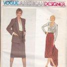 Vogue 2270 Pattern Uncut FF 14 Calvin Klein Jacket Skirt Blouse Suit