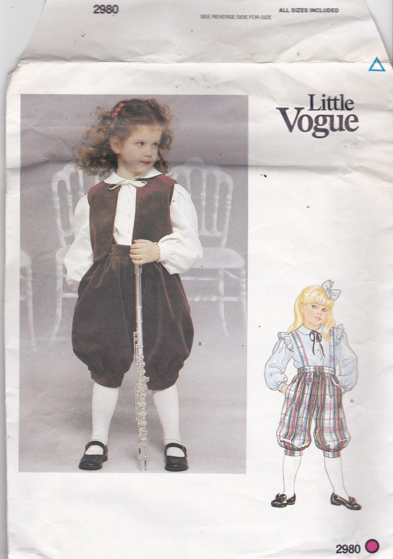 Little Vogue 2980 Pattern Uncut FF Girls size 3 4 5 6 6x Knickers Vest Blouse