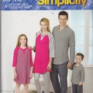 Simplicity J0473 Uncut FF Men Women Children Teens Pajamas Top Pants All Sizes