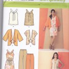 Simplicity 1884 Pattern Uncut FF xxs thru xxl Pants Top Dress Kimono Separates In K Designs