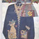Miss Hattie Garden Kitty Pattern Uncut FF Caught Up In Stitches to make Applique Sweatshirt Bag