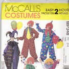McCall Costume MP348 Pattern Uncut FF Girls Boys size 2 3 4 Toddler Clown Jester