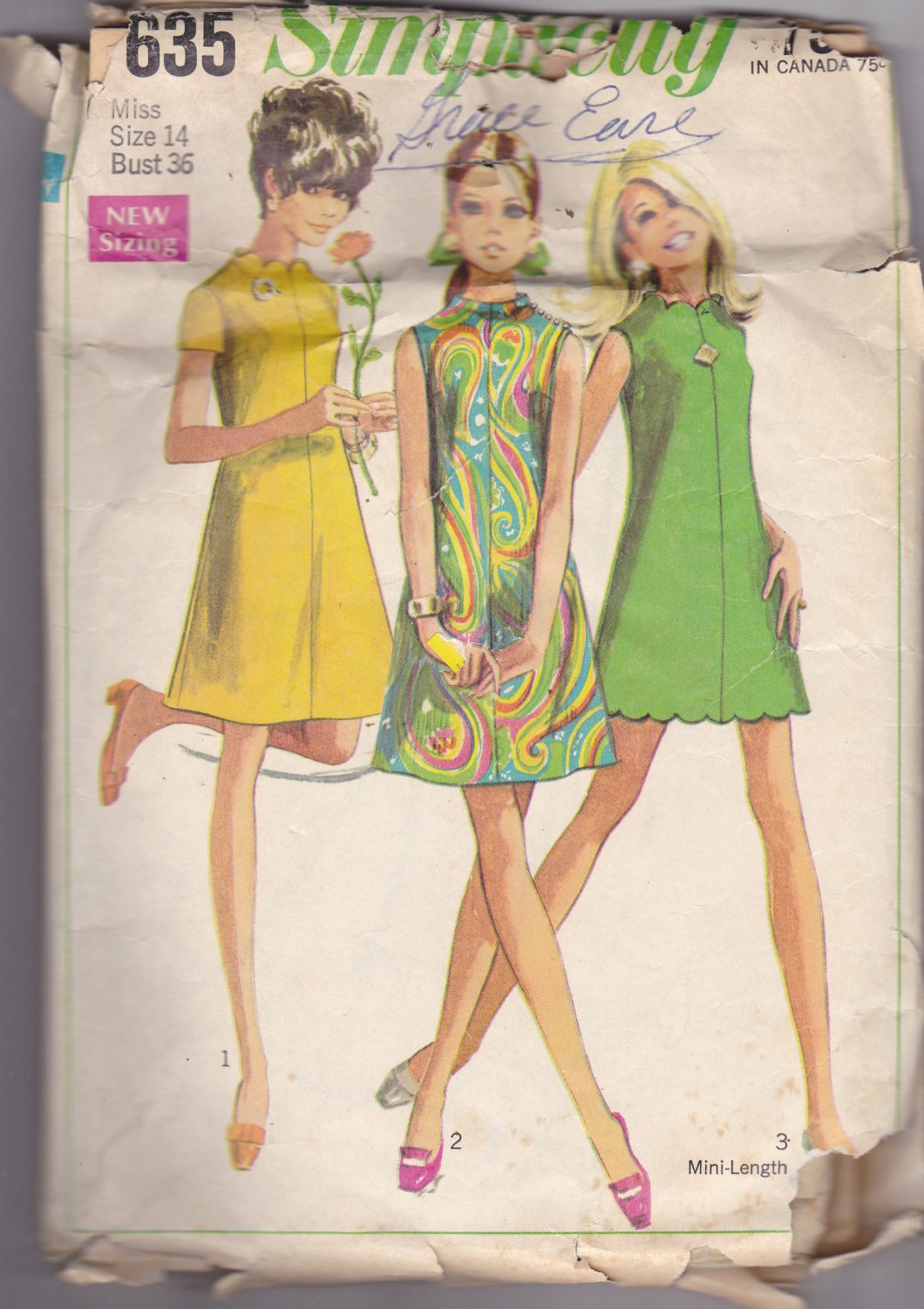 Simplicity 7635 Dress 14, may be missing pieces, 50 cents plus shipping