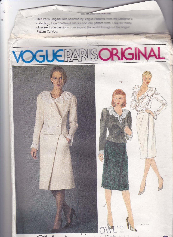 Vogue 2567 Pattern Uncut FF 12 Vogue Paris Original Chloe